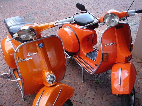 orange vespas