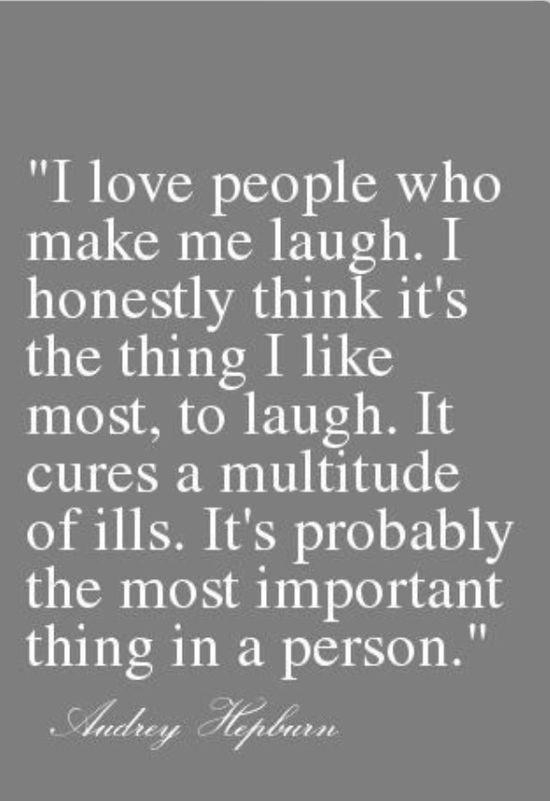 Laughter really is the best medicine.