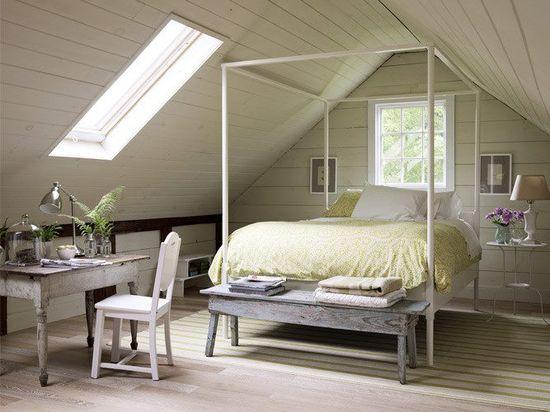 Attic Bedroom!  Love this!