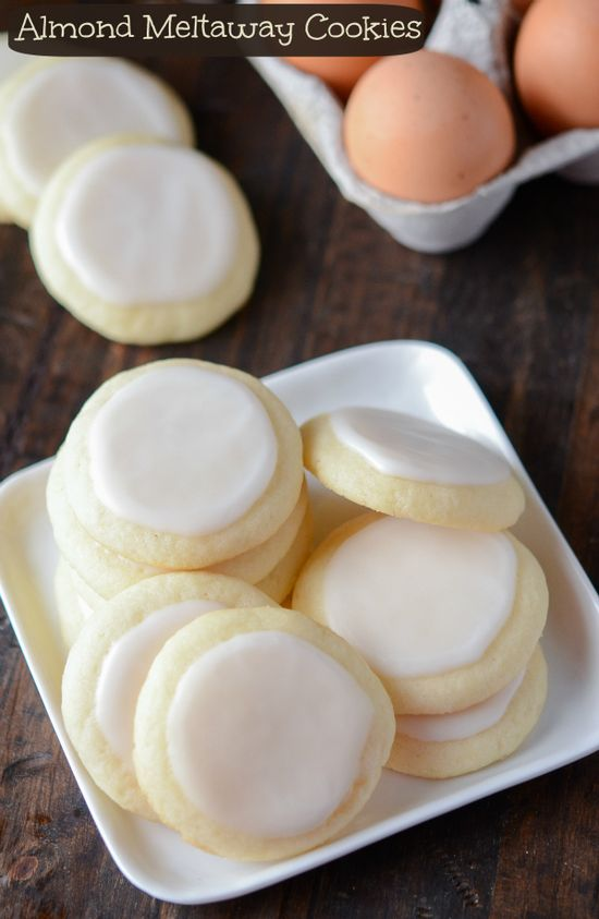almond melt-away cookies