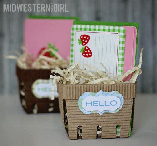 Canvas Corp Flute paper - paper fruit baskets - DIY gift basket idea - #giftbasket #teachergift