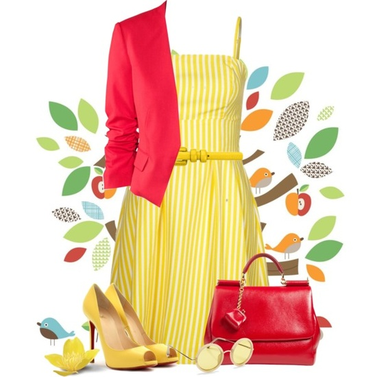 """red and yellow"" by countrycousin on Polyvore"