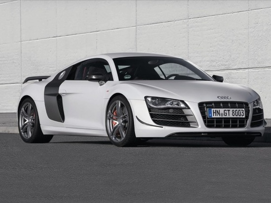2012 Audi R8 GT...5.2 liter V10. someday it will be mine. just because i want it. its not the fastest or nicest car on the road..but i want it damnit