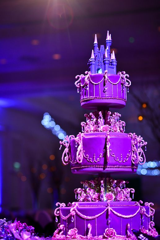 Elaborate Disney wedding cake