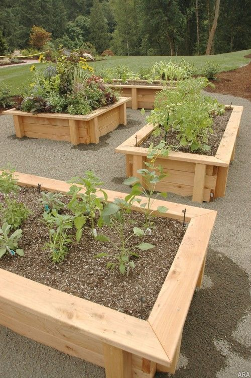 Raised bed gardening…just what I want to build. With a seat cap on top. Perfec