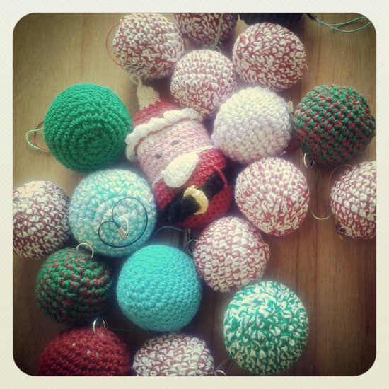 xmas balls  #crochet #amigurumi #handmade