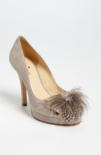 feathers + suede // kate spade