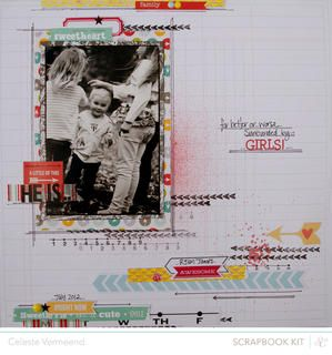 Surrounded by celestev at Studio Calico using the Block Party scrapbook kit and add ons