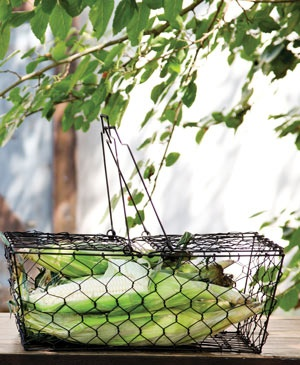 rustic wire picnic basket