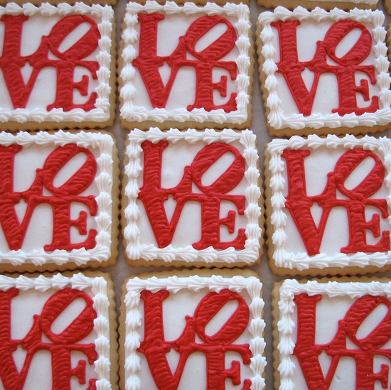 Red Love Valentine Cookie Gift Box Chocolate by whippedbakeshop, $36.00