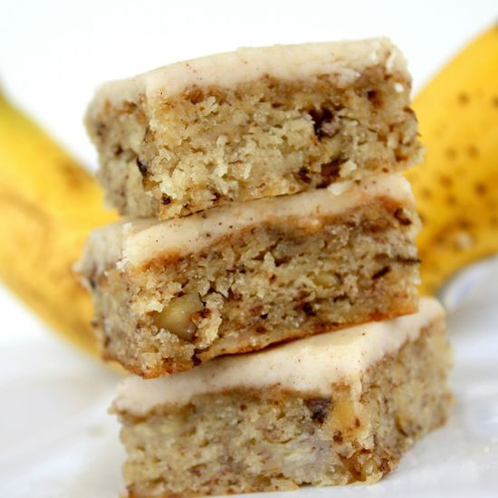 Monkey Squares- Banana Bread bars with Browned butter frosting