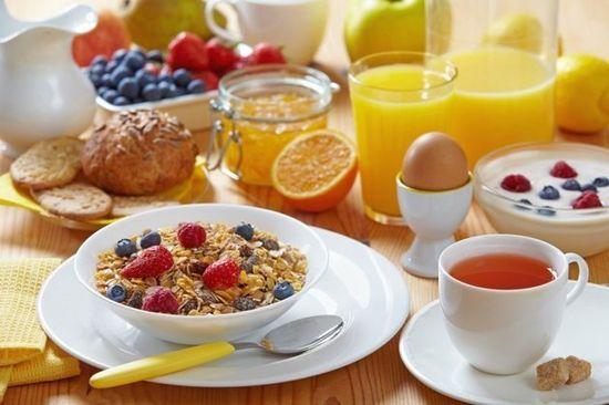 Le petit déjeuner :