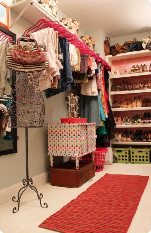 Terrific organized closet makeover