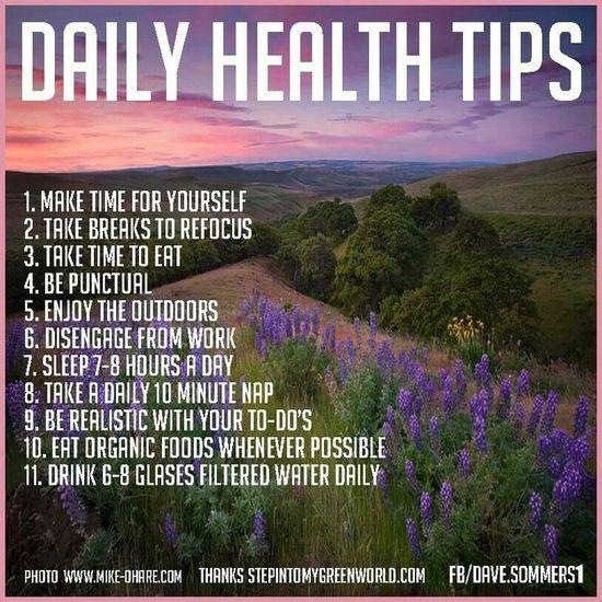 Daily Health Tips! #health #health food #better health solutions #better health naturally #health guide