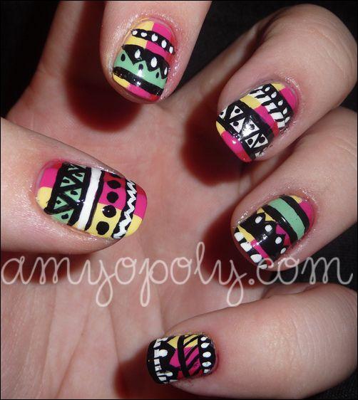 Nail Art: Aztec Nails, via Flickr.