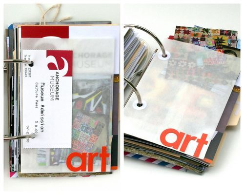 Love the idea of glassine envelopes in a ring journal