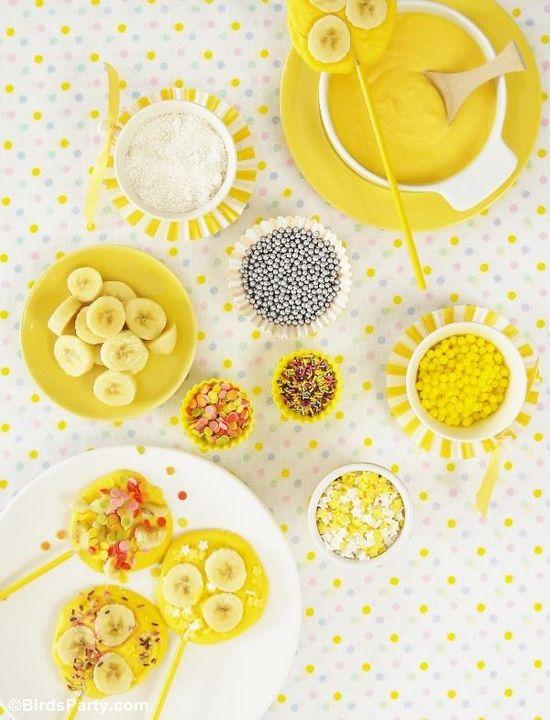 Banana Pop Recipes from Bird's Party Blog