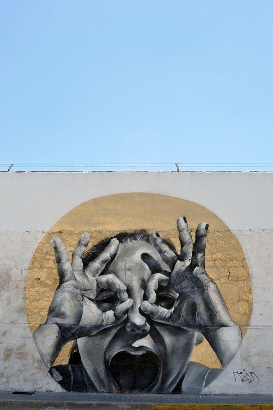 Mesa – Hyperrealistic Streetart. #graffiti #streetart #portrait
