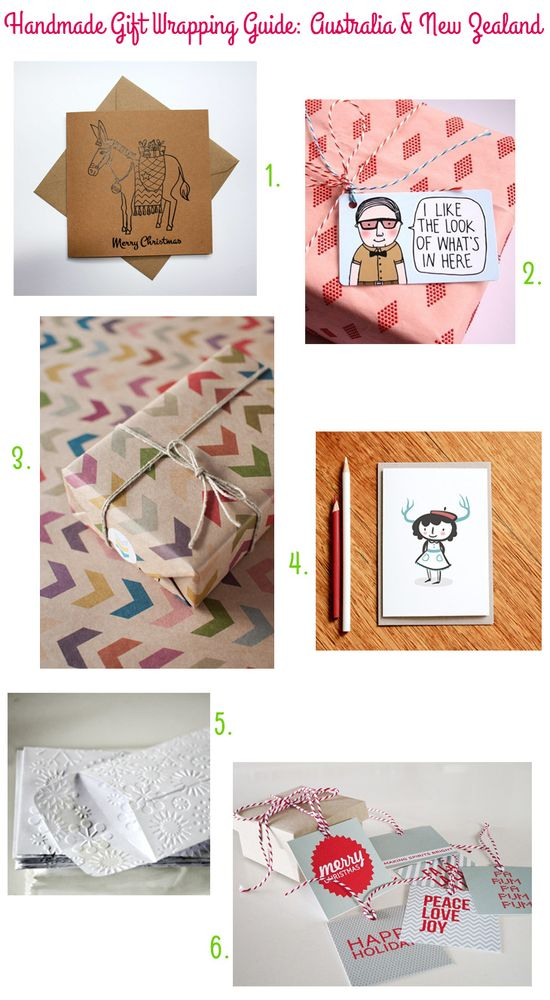 Handmade Gift Wrapping Guide: Australia & New Zealand via Style for a Happy Home