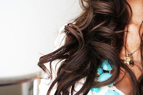 Loose curls.