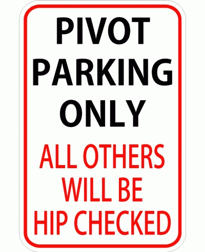 Pivot Parking Roller Derby Sticker  $1.00,* also available now as a sign*via Tot