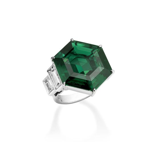 Christie's diamond emerald ring