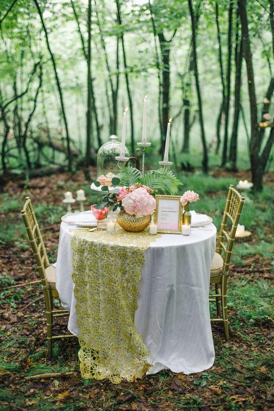 romantic woodland wedding ideas