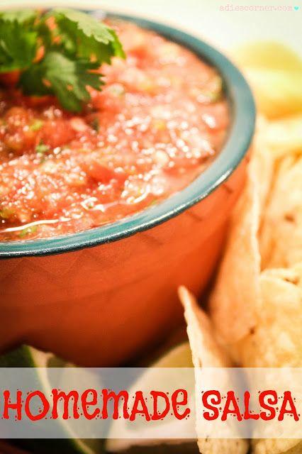 Hot 'n Sweet Homemade Salsa Recipe! #salsa #recipes