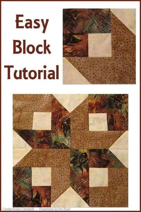 Box Quilt Block Tutorial made in batiks is easy to make #quilt #quiltblock #quilttutorial #batiks