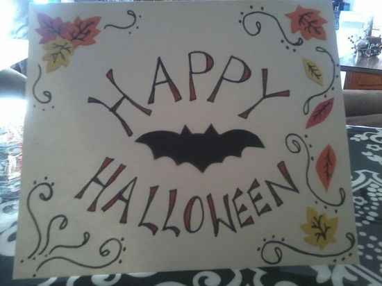 Handmade Halloween card ©