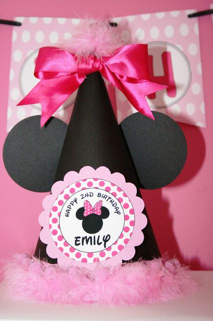 Minnie Mouse Birthday Hat