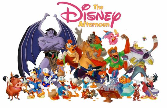'90s Disney cartoons were the best!! Talespin, Ducktales, Darkwing Duck, Gummy Bears, Chip 'n Dale Rescue Rangers, Timon & Pumba, Aladdin, The Little Mermade, Goof Troop, and the list goes on...