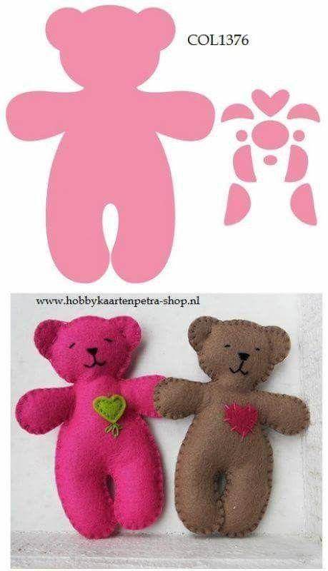Image - Ours facile à coudre. - Les poupées de Marie-Yvonne - Skyrock.com