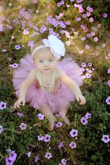 baby girl, tutu, flowers