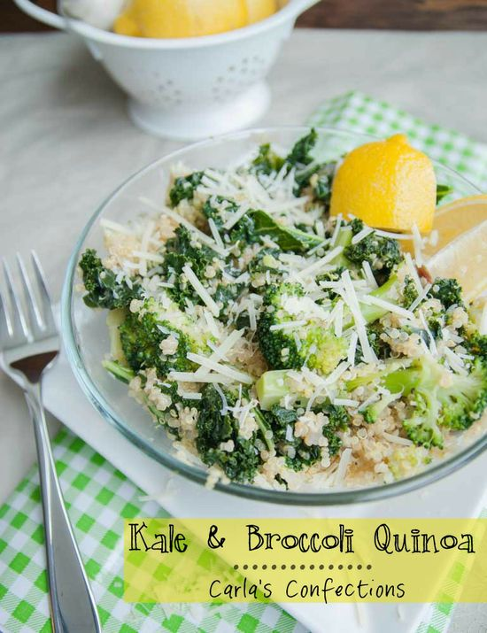 Kale & Broccoli Quinoa – broccoli is high in fiber and great for detoxifying