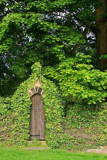 Arched garden door