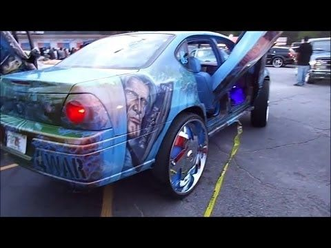 Custom Car Airbrushing War Design