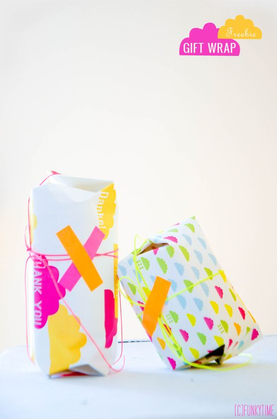*free* downloadable Neon Gift Wrap
