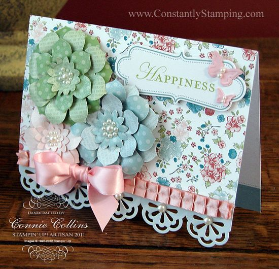 Fabulous card by Connie Collins one of the Stampin' Up Artisan Award winners