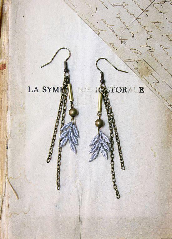 amerla lace earrings #lace #jewelry