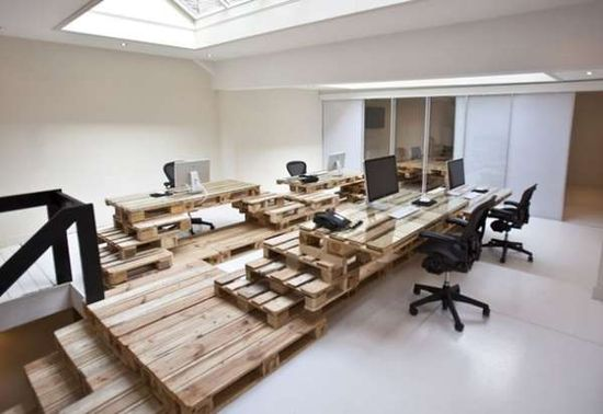 Wood Pallet furniture - we could take industrial to a whole new level.