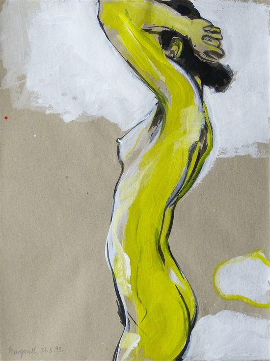 "Saatchi Online Artist: Dominik Burckhardt; Acrylic, 1993, Painting ""Margareth"""