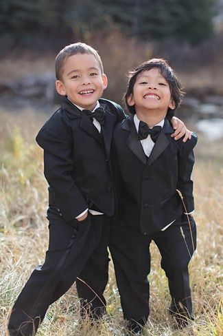 Glamorous Gold, Green & White Wedding | Confetti Daydreams - Cute page boys in tuxedos ♥  #Gold #Green #White #Wedding #Theme #Inspiration