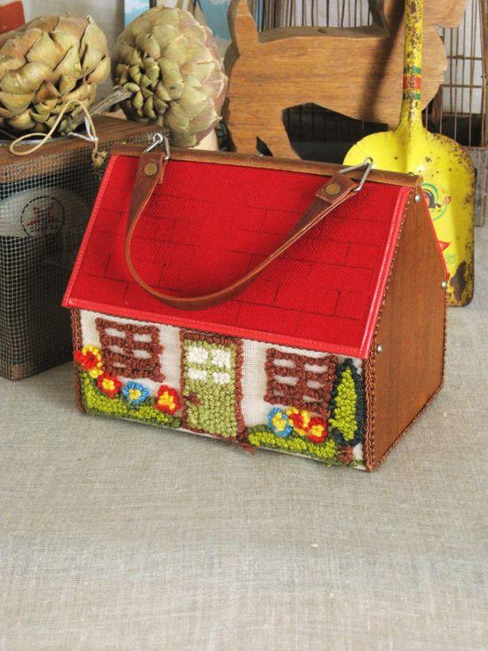 Vintage Handbag- Cottage Life