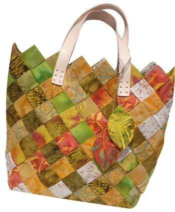 Sac patchwork aux couleurs d'automne #sac #patchwork #jellyrolls #automne