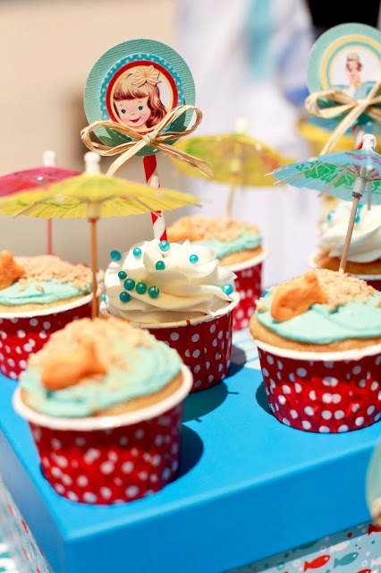 https://www.facebook.com/hannahscookiesandtreats Miss Party Mom: Vintage Beach Baby Shower: Hermosa Beach, Ca