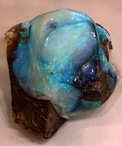 Opal! #gemstone #blue