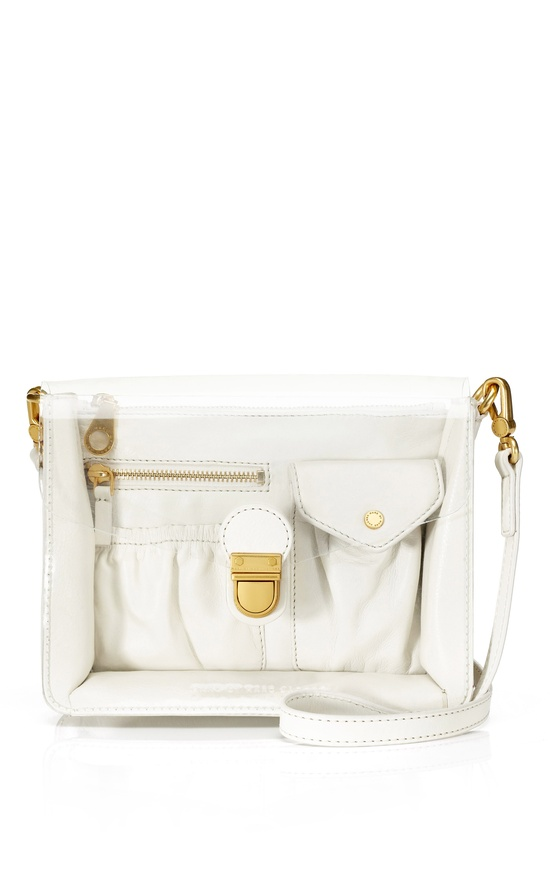 Marc by Marc Jacobs White Birch Clearly Crossbody