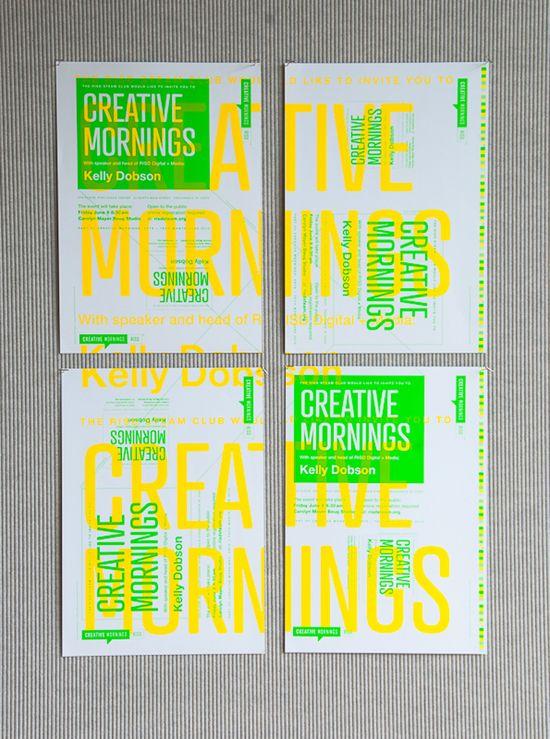 Creative Mornings Poster