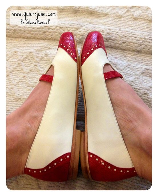 Flat leather shoes from QuieroJune
